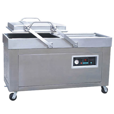 DZ 400 2BS Double chamber stand vacuum packed