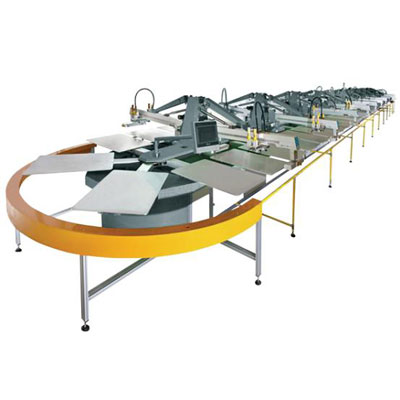 SPO16/52 Automatic Oval Type screen Printing machine for T-Shirts