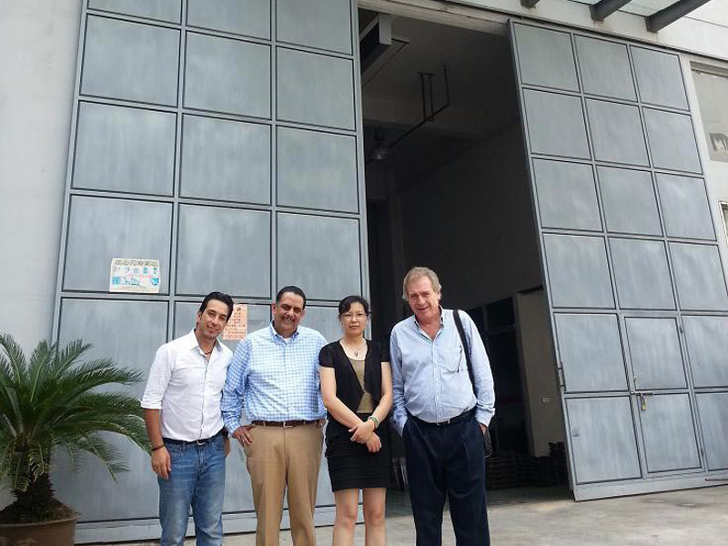 Mexican customers visit the factory